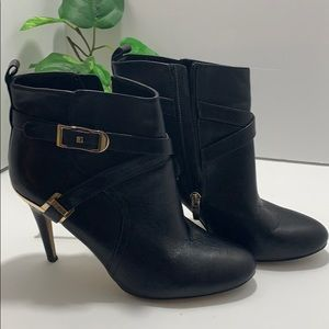 Marc Fisher Leather Black Ankle Boots